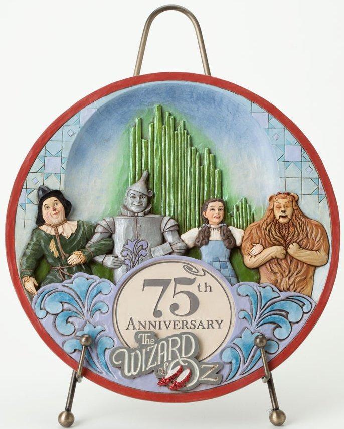 Jim Shore Wizard of Oz 4037539 75th Anniversary Plate Figurine