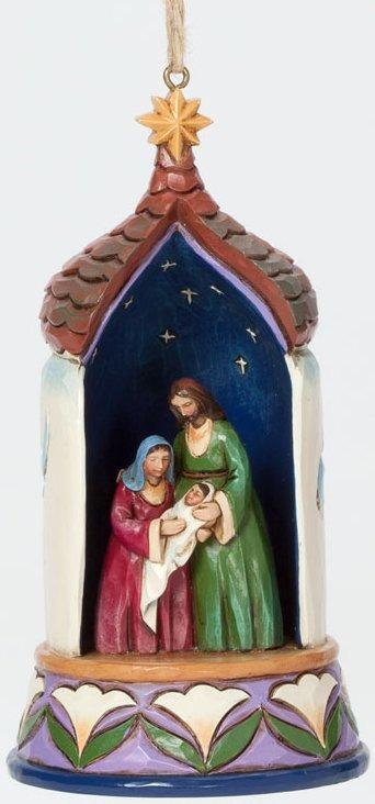 Jim Shore 4037594 Lighted Holy Family Ornament