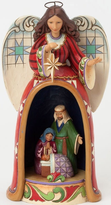 Jim Shore 4037595 Angel Nativity Scene