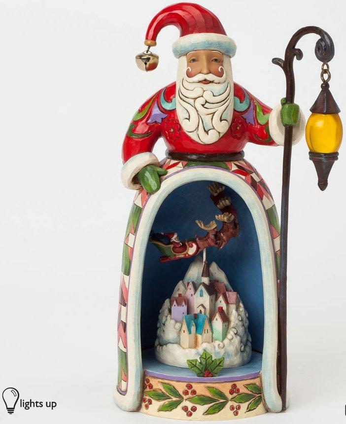 Jim Shore 4037597 Lighted Santa