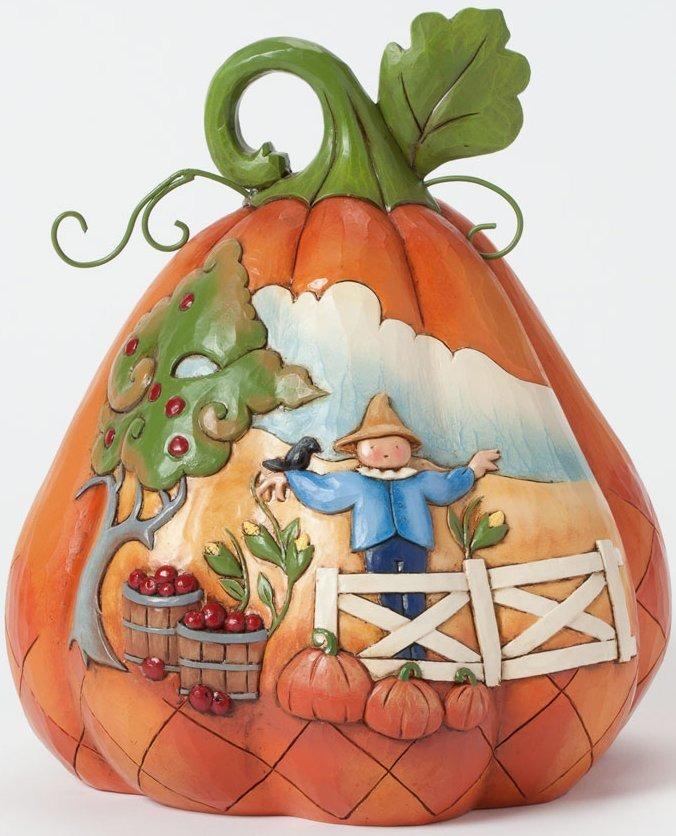 Jim Shore 4037598 Two-Sided Pumpkin