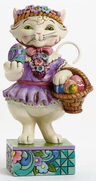 Jim Shore 4037609 Pint Easter Cat Figurine