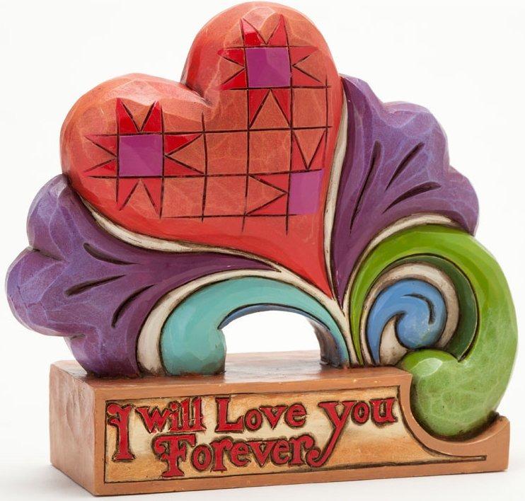 Jim Shore 4037646 Love You Forever Heart Figurine