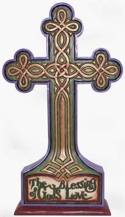 Jim Shore 4037648 Irish Cross Figurine