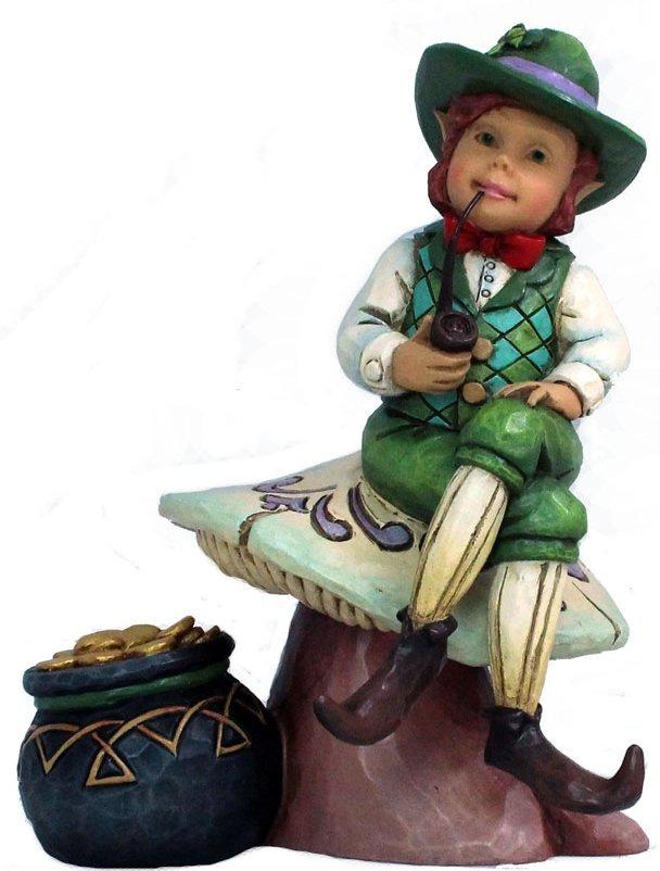 Jim Shore 4037649 Leprechaun on Mushroom Figurine