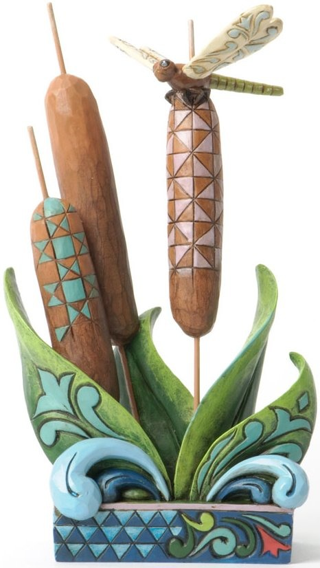 Jim Shore 4037652 Dragonfly on Cattail Figurine