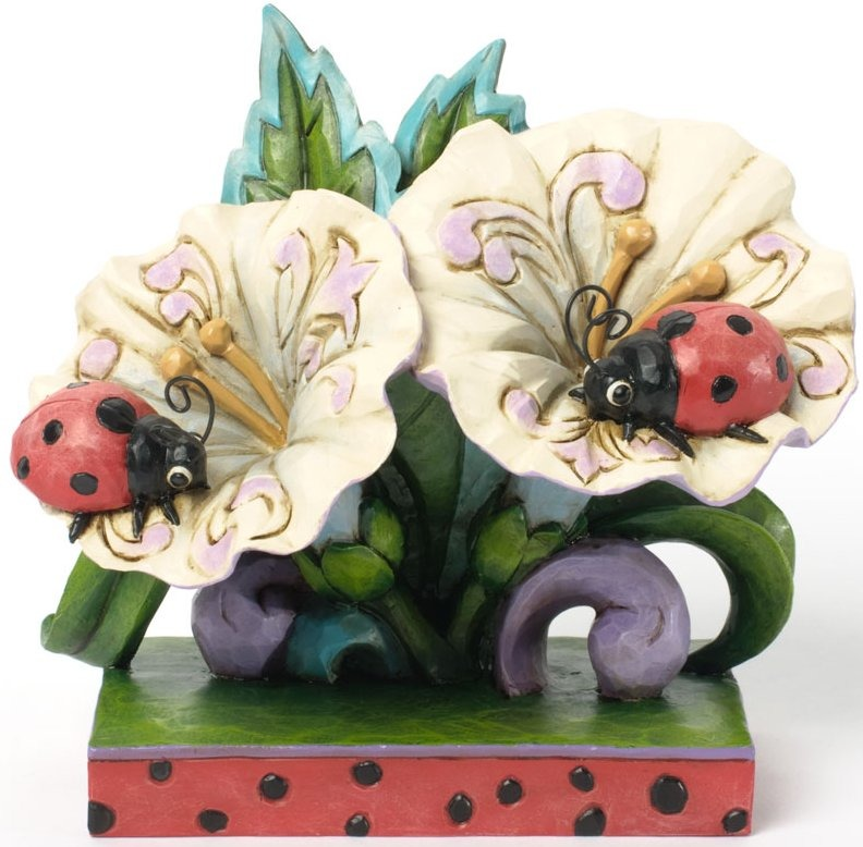 Jim Shore 4037653 Ladybugs on Flowers Figurine