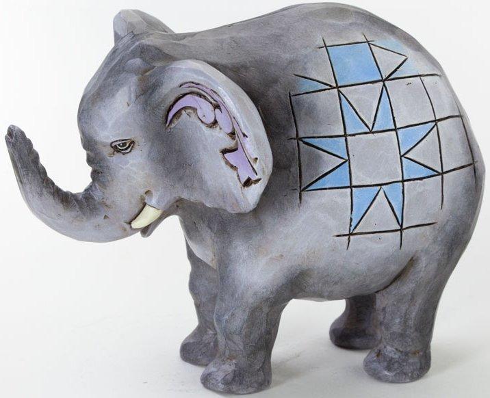 Jim Shore 4037660 Mini Elephant Figurine