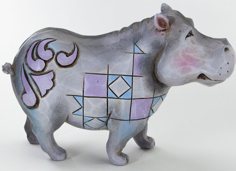 Jim Shore 4037663 Mini Hippo Figurine