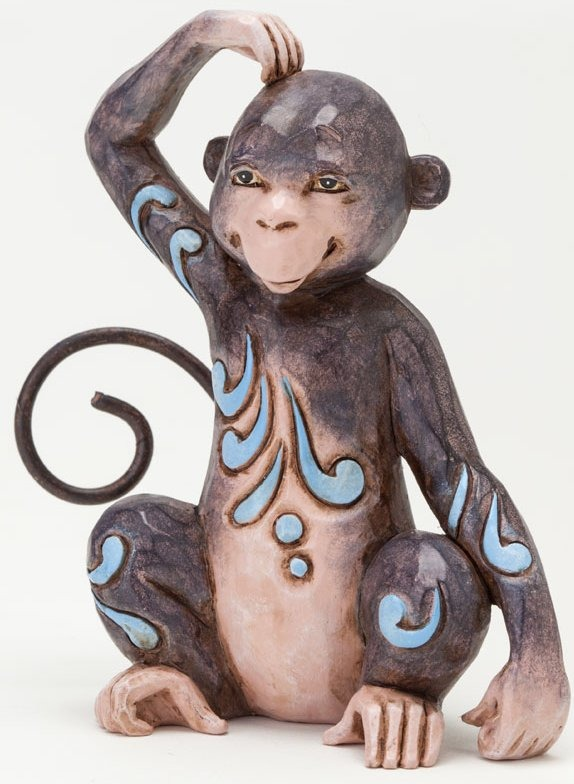 Jim Shore 4037664 Mini Monkey Figurine