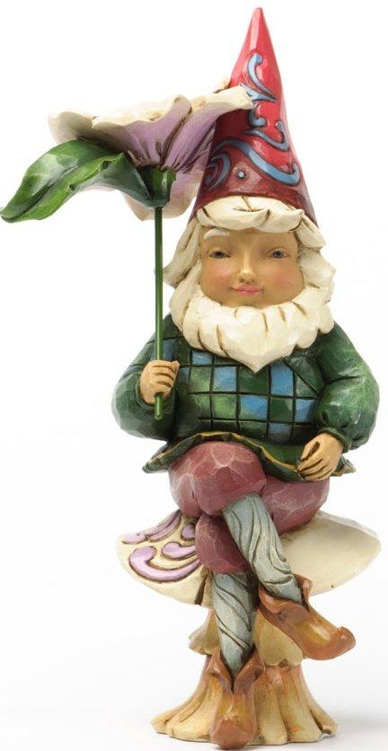 Jim Shore 4037668 Gnome on Mushroom