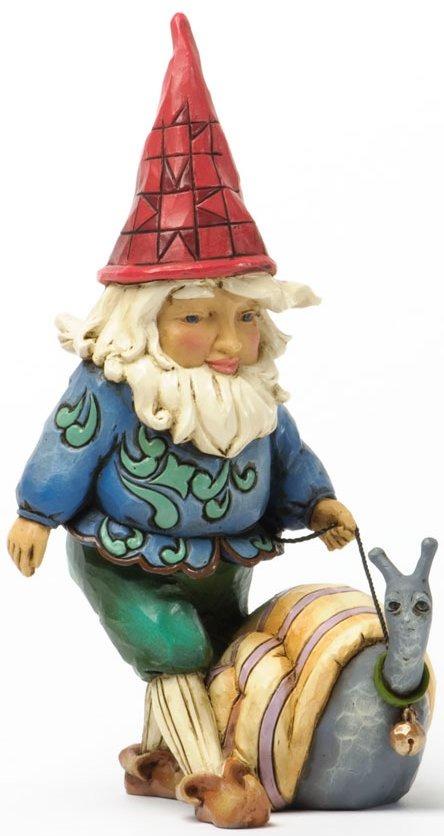 Jim Shore 4037669 Gnome Snail Figurine