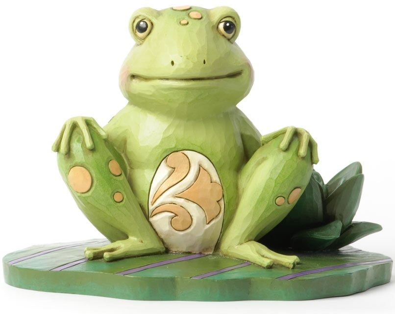 Jim Shore 4037670 Frog on Lily Pad Figurine