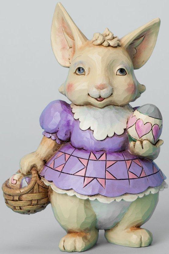 Jim Shore 4037675 Pint Bunny Egg Basket Figurine