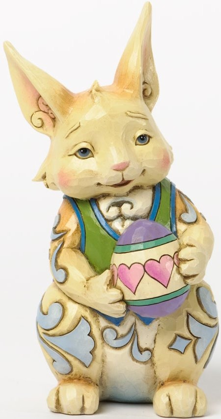 Jim Shore 4037676 Pint Bunny Egg Figurine