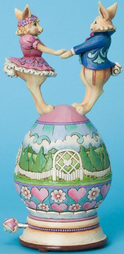 Jim Shore 4037679 Bunnies Dancing Musical Figurine