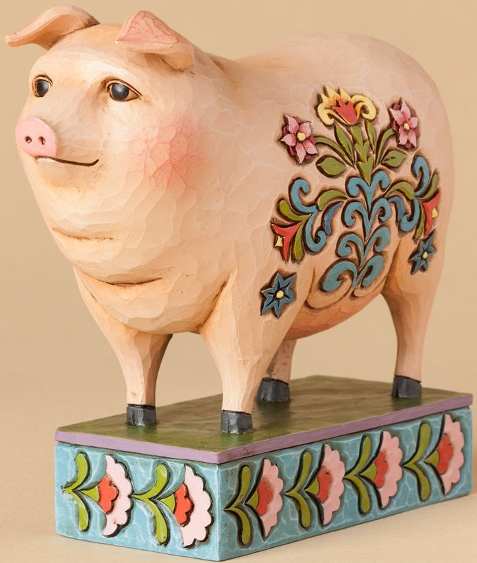 Jim Shore 4039492 Folk Pig