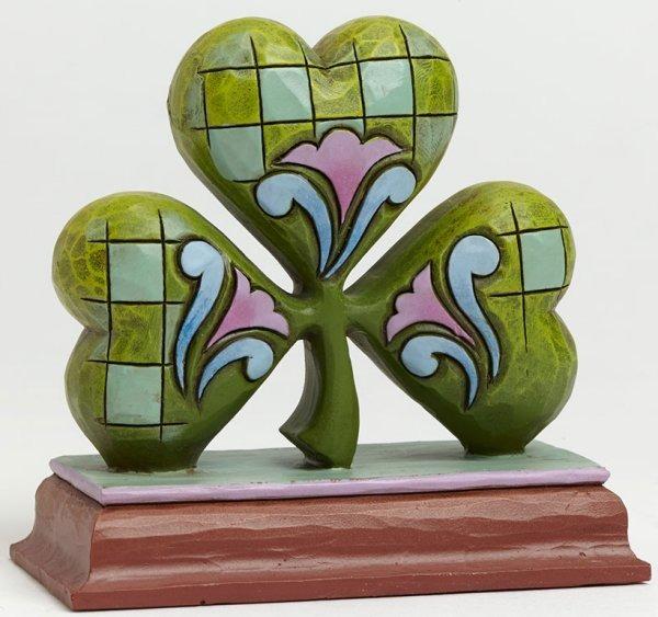 Jim Shore 4040540 Shamrock Mini Figurine