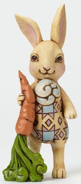 Jim Shore 4040558 Pint Bunny w Carrot Figurine