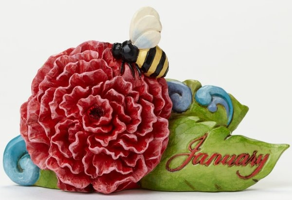 Jim Shore 4040655 January Flower Carn Figurine
