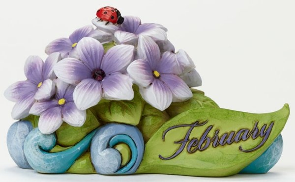 Jim Shore 4040656 February Flower Vio Figurine