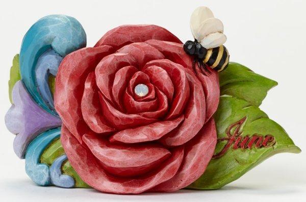 Jim Shore 4040660 June Flower Rose Figurine