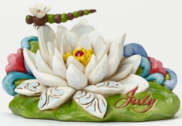 Jim Shore 4040661 July Flower Waterli Figurine