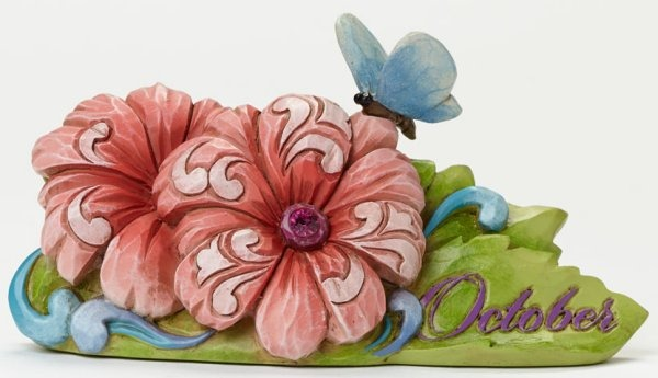 Jim Shore 4040664 October Flower Cosm Figurine