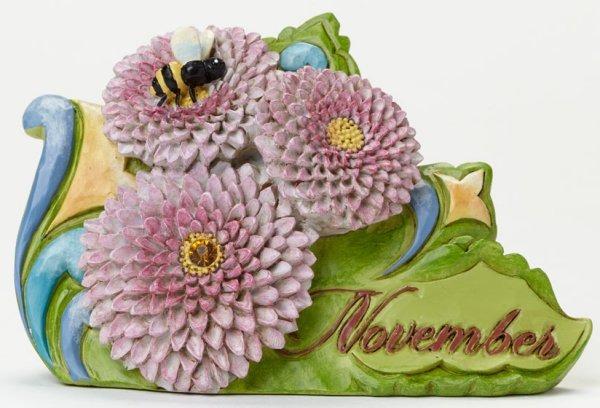 Jim Shore 4040665 November Flower Chr Figurine