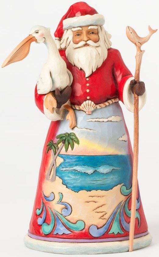 Jim Shore 4041063 Beach Santa & Pelican