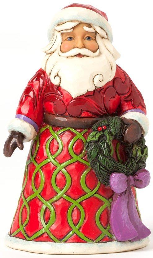 Jim Shore 4041072 Pint Size Santa Wreath