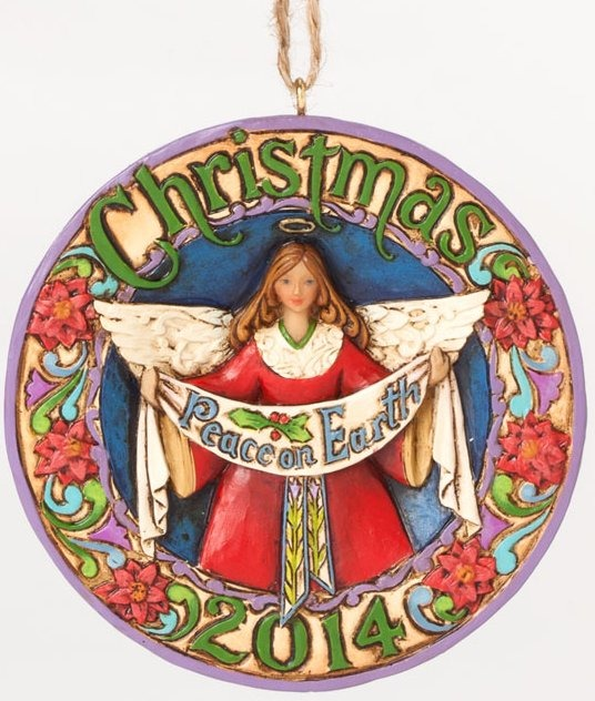 Jim Shore 4041086 Dated 2014 Peace On Earth Ornament