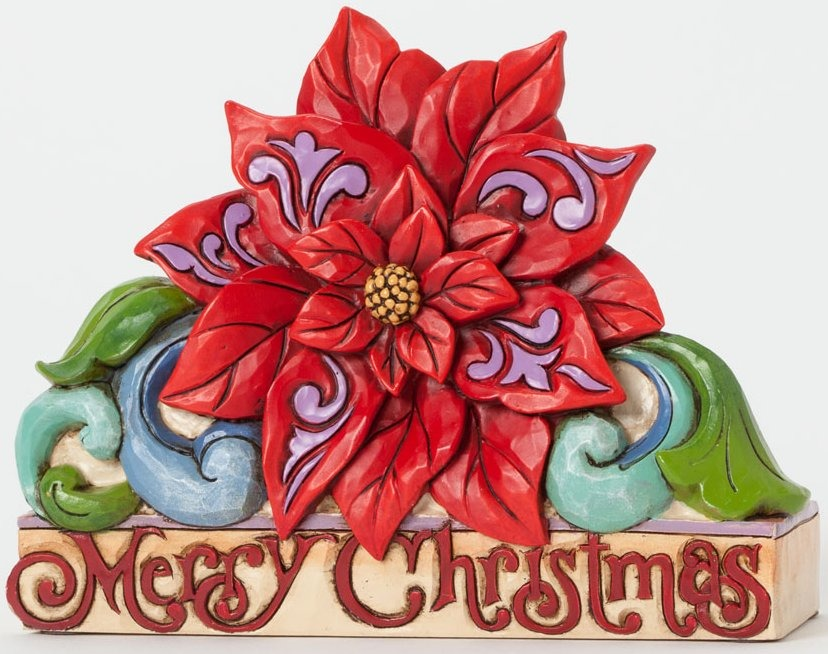 Jim Shore 4041097 Merry Christmas Poinsettia