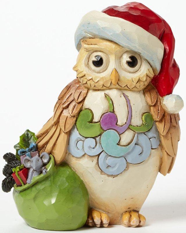 Jim Shore 4041105 Mini Christmas Owl