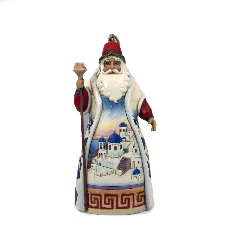 Jim Shore 4041112 Greece Santa Ornament