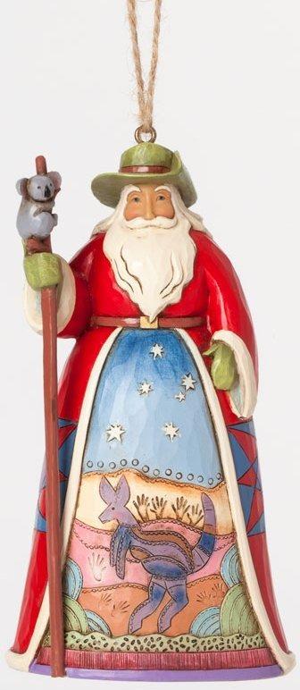 Jim Shore 4041113 Australia Santa Ornament