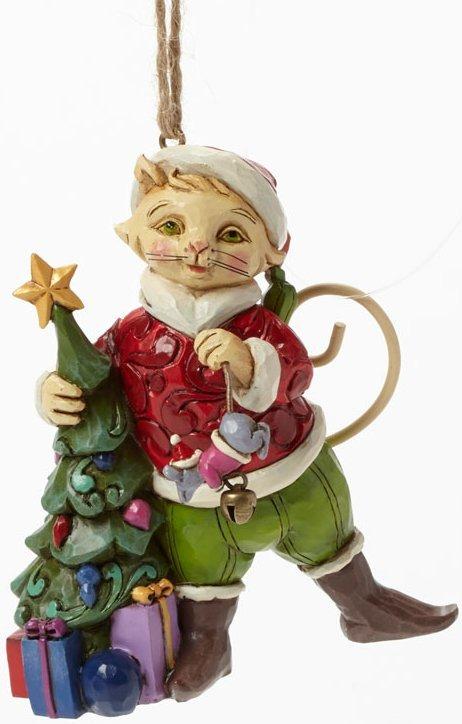 Jim Shore 4041122 2014 Christmas Cat Ornament