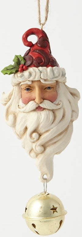 Jim Shore 4041125 Santa & Dangling Bell Ornament