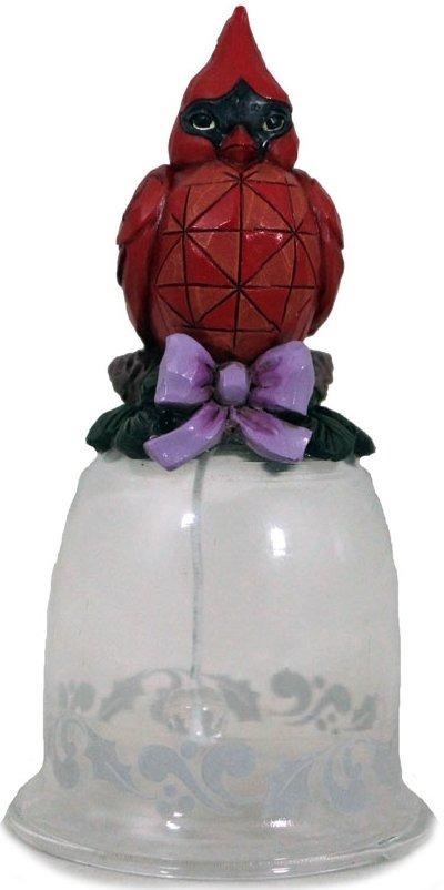 Jim Shore 4041127 Cardinal Glass Bell Ornament