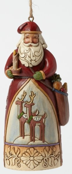 Jim Shore 4041133 JS WIL Hanging Ornament Williamsburg Santa