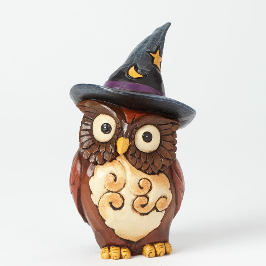 Jim Shore 4041143 Mini Owl Witch
