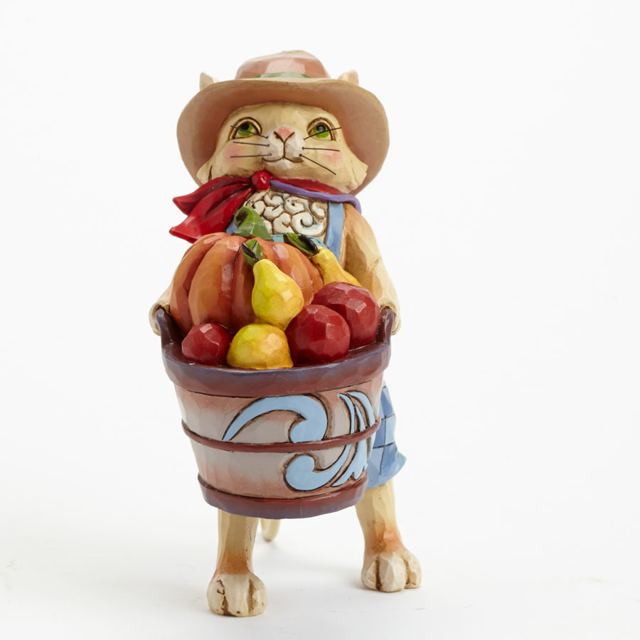 Jim Shore 4041154 Pint Size Harvest Cat