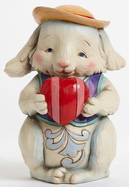 Jim Shore 4041775 Pint Love Bunny Figurine
