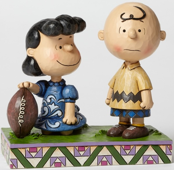 Jim Shore Peanuts 4042376 Football Lucy and Charlie