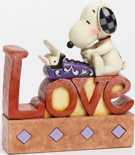 Peanuts by Jim Shore 4042379 Snoopy Typing LOVE Wor