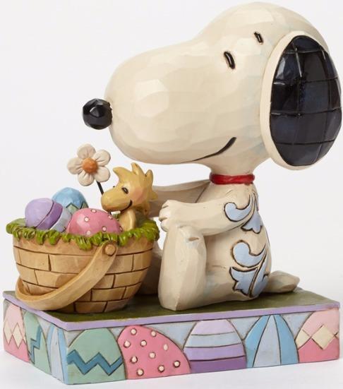 Jim Shore Peanuts 4042382 Easter Bunny Snoopy