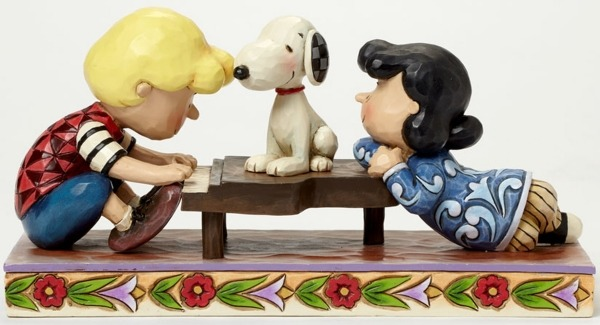 Jim Shore Peanuts 4042385 Schroeder with Lucy and