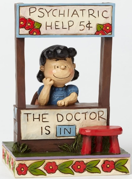 Jim Shore Peanuts 4042386 Lucy The Doctor is in