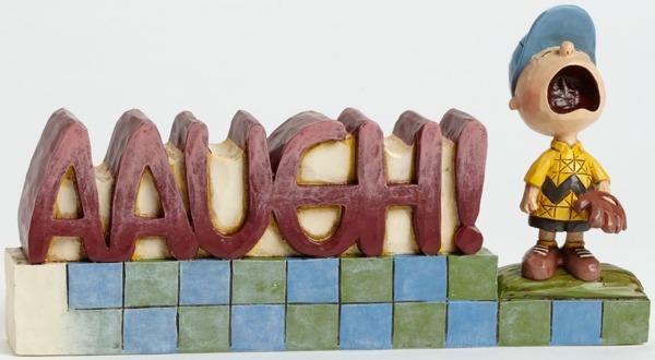 Jim Shore Peanuts 4042388 AAUGH Word Plaque
