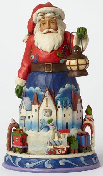 Jim Shore 4042963 Santa w Train Figurine